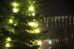 Urban Christmas tree Stock Photography