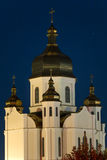Urban church royalty free stock image
