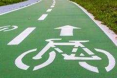 Urban ciclyng lane Stock Photo