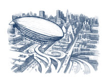Urban city. Modern urban city plan view Stock Photo