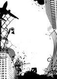 Urban city. Abstract grunge urban city vector Royalty Free Stock Photo