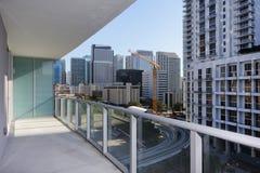 Urban city balcony view Royalty Free Stock Image