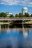Urban city bridge and architecture Royalty Free Stock Photo