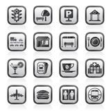 Urban and city elements icons Royalty Free Stock Photos