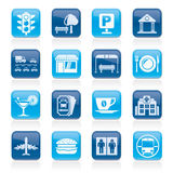 Urban and city elements icons Stock Images