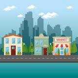 Urban city landscape. Vector illustration graphic design Stock Image