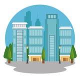 Urban city landscape. Vector illustration graphic design Royalty Free Stock Images