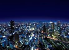 Urban City by Night Royalty Free Stock Photos