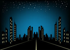 Urban City At Night Background Royalty Free Stock Images