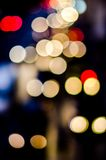 Urban city night light bokeh Stock Photography