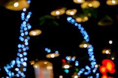 Urban city night light bokeh , defocused blur background Royalty Free Stock Photography