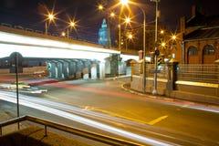 Urban city night road Stock Photography