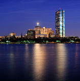 Urban City night scene Stock Images