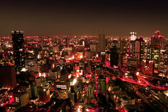 Urban City by Nights stock images