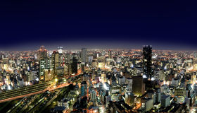 Urban City by Nights Royalty Free Stock Photo