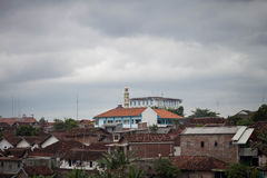Urban city poor buildings photo taken in jogja indonesia. Java Royalty Free Stock Image