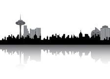Urban city silhouette Stock Image