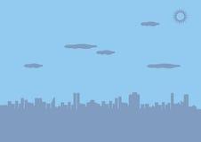 Urban City Silhouette Vector Background Stock Photo