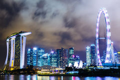 Urban city in Singapore Royalty Free Stock Photography