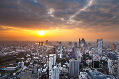 Urban City Skyline, Bangkok, Thailand. Royalty Free Stock Photo