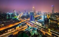 Urban City Skyline, Bangkok, Thailand. Royalty Free Stock Photo