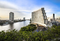 Urban City Skyline,Chao Phraya River,Bangkok,Thailand Royalty Free Stock Images
