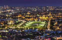 Urban City Skyline, Grand Palace, Wat Phra Kaew & Sanam Luang Ba Royalty Free Stock Image