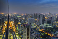 Urban City Skyline at mornging, Bangkok Thailand Stock Image