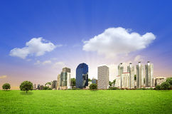 Urban City Skyline in the morning Royalty Free Stock Photo