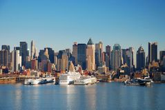 Urban City Skyline, New York City Royalty Free Stock Image