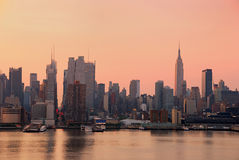 Urban City skyline, New York City Royalty Free Stock Images