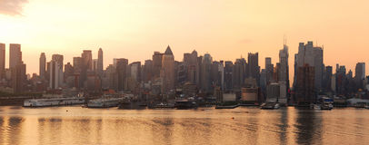Urban City skyline panorama, New York City Royalty Free Stock Images