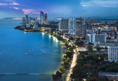 Free Urban City Skyline, Pattaya Bay And Beach, Thailand. Royalty Free Stock Photo - 43196975