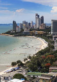 Urban city Skyline, Pattaya bay and beach, Thailand. Stock Photo