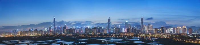 Urban city skyline Royalty Free Stock Photography
