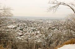 Urban City in Snow Royalty Free Stock Photo
