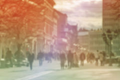 Urban City Street Blur Background Royalty Free Stock Photo