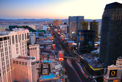 Urban city street, Las Vegas, Nevada. Royalty Free Stock Photos