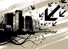 Urban city vector Royalty Free Stock Image
