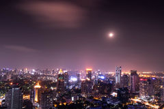Urban city view of cityscape on night view Stock Image