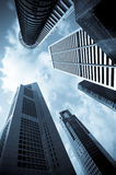 Urban cityscape. Modern office skyscrapers Royalty Free Stock Image