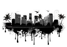 Urban cityscape. Vector illustration of an urban cityscape Royalty Free Stock Photography