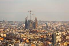 Urban cityscape of Barcelona Stock Photos
