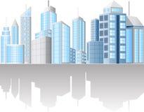Urban cityscape. Illustration of urban cityscape  on white background Stock Images