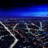 Urban Cityscape by night Royalty Free Stock Photo