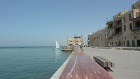 Urban cityscape of the old port of Jaffa in Tel Aviv Jaffa, Israel stock video
