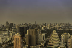 Urban cityscape from rooftop view for background Royalty Free Stock Images