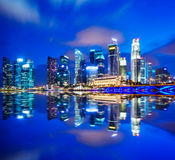 Urban cityscape in Singapore Stock Photos
