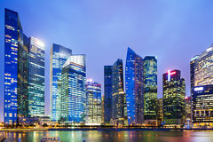 Urban cityscape in Singapore Royalty Free Stock Photos