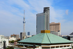 Urban cityscape of Tokyo. With clear blue sky Royalty Free Stock Photography